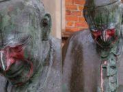 Zdewastowano pomnik Jana Pawła II w Starogardzie Gdańskim