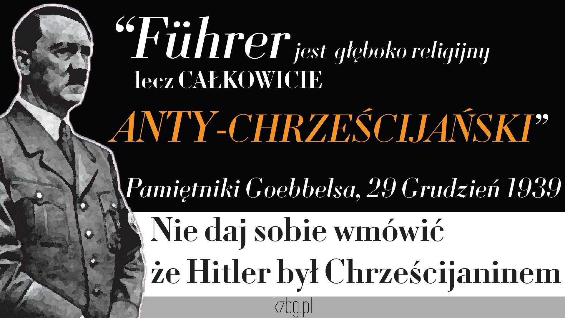 Hitler nie był chrześcijaninem